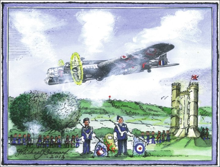Whitely Air Crash Broadway Tower Worcestershire by Michael Barnard